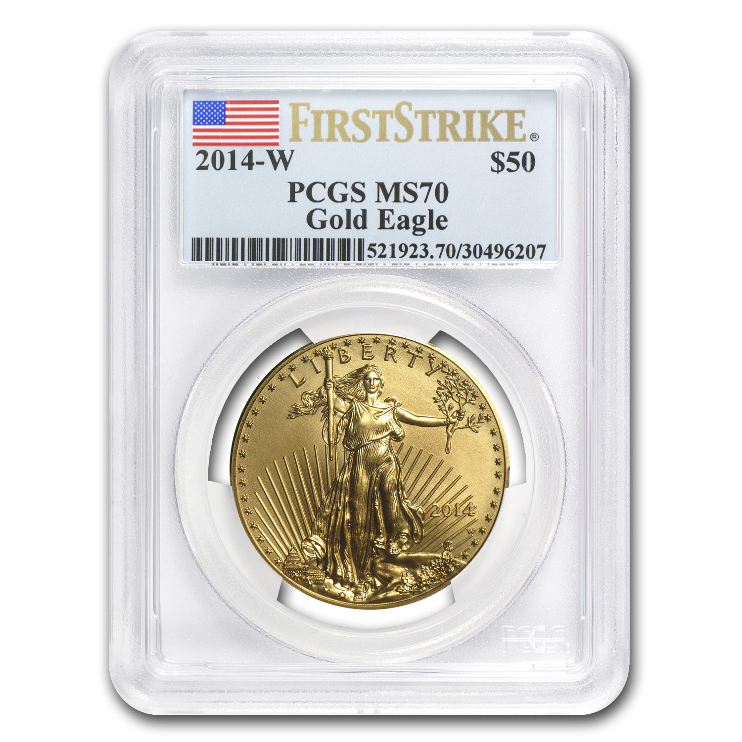 2014-W 1 oz Burnished Gold Eagle MS-70 PCGS First Strike